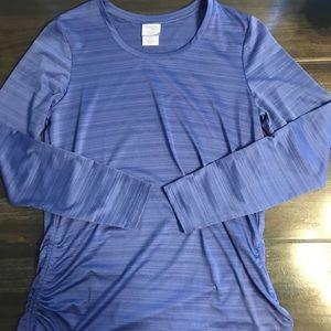 Danskin Now Blue Long Sleeve Athletic Shirt